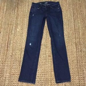 Ann Taylor Loft modern straight jeans size 25/0